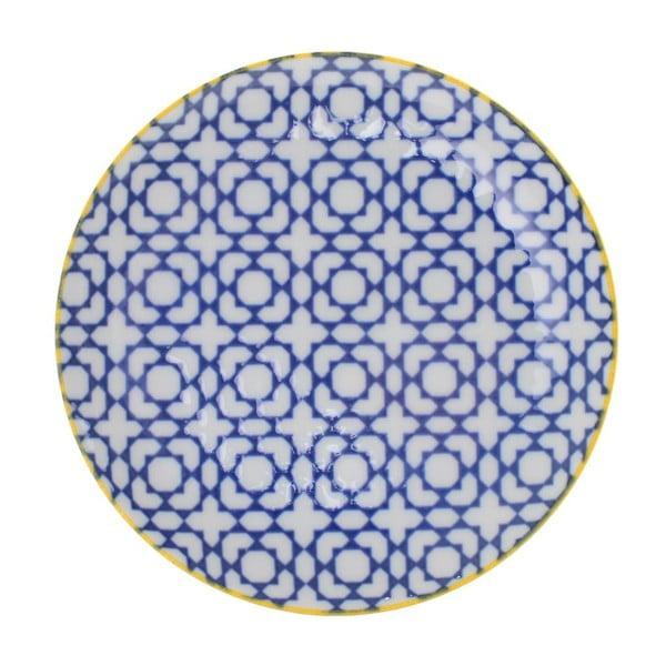Porcelanowy talerz Geometric No2, 16x2,1 cm