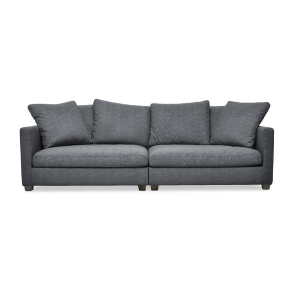 Antracytowa sofa 3-osobowa Vivonita Hugo