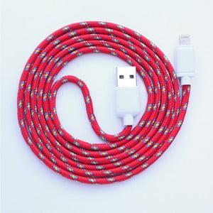 Kabel do ładowania Lightning dla iPhone 5 i iPhone 6 Red Royal, 1,5 m