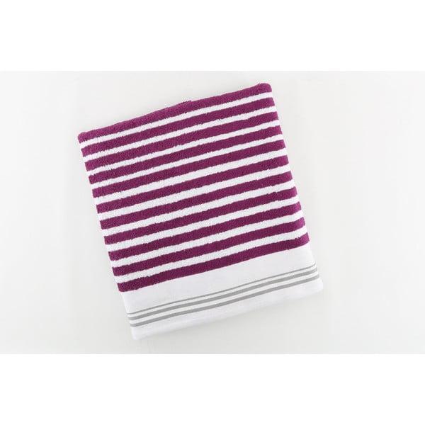 Ręcznik bawełniany BHPC White 80x150 cm, fioletowy