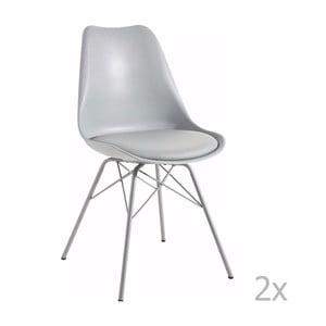 Zestaw 2 szarych krzeseł 13Casa Marianne