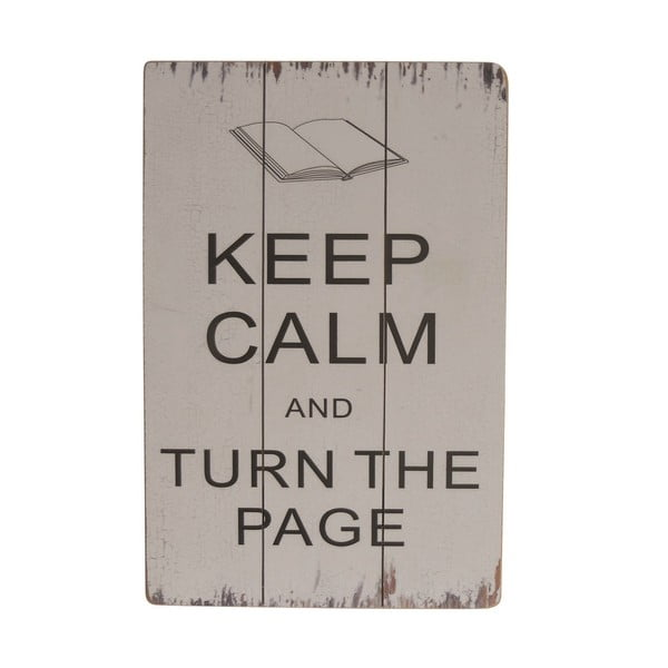 Tablica dekoracyjna Keep Calm and Turn the Page