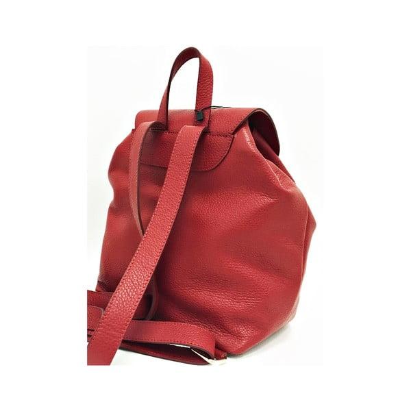Skórzany plecak Era Red