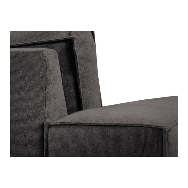 Ciemnoszara sofa 3-osobowa Kooko Home Modern
