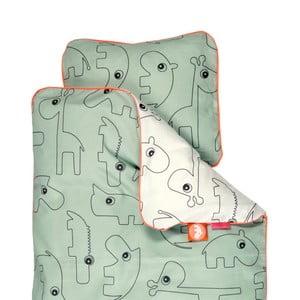 Zielona pościel dziecięca Done By Deer Contour, 80x100cm