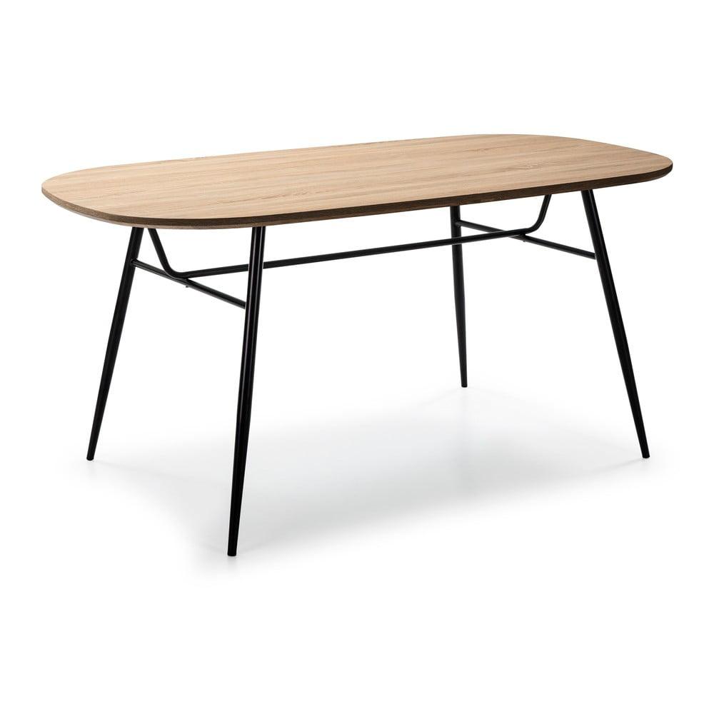 Stół z blatem w dekorze drewna dębowego Marckeric Mirta