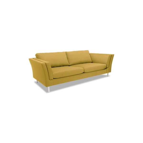 Żółta sofa trzyosobowa VIVONITA Connor