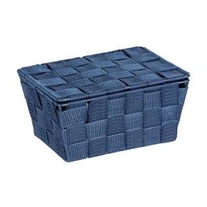 Ciemnoniebieski koszyk z pokrywką Wenko Adria