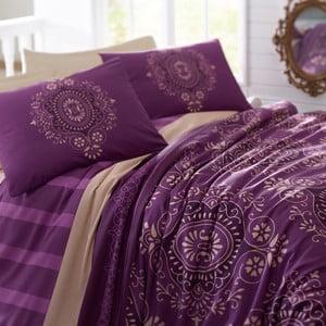 Pościel z prześcieradłem Ottoman Purple, 160x220 cm