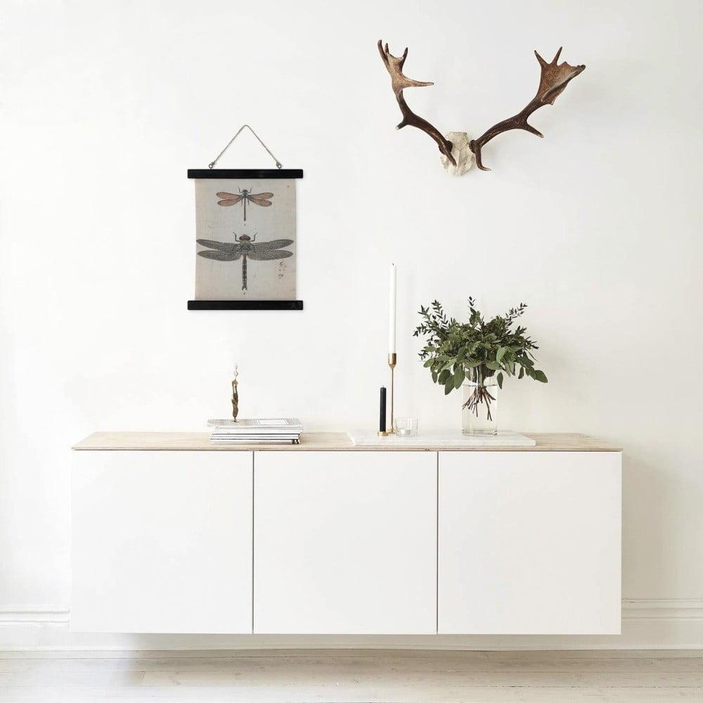 plakat lninay na drewnianym dr ku hf living thorn 33x40 cm bonami. Black Bedroom Furniture Sets. Home Design Ideas