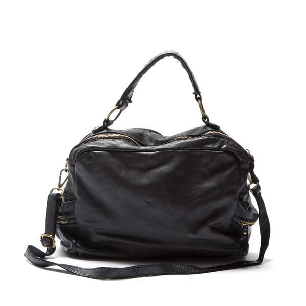 Skórzana torebka Mangotti 0004, czarna
