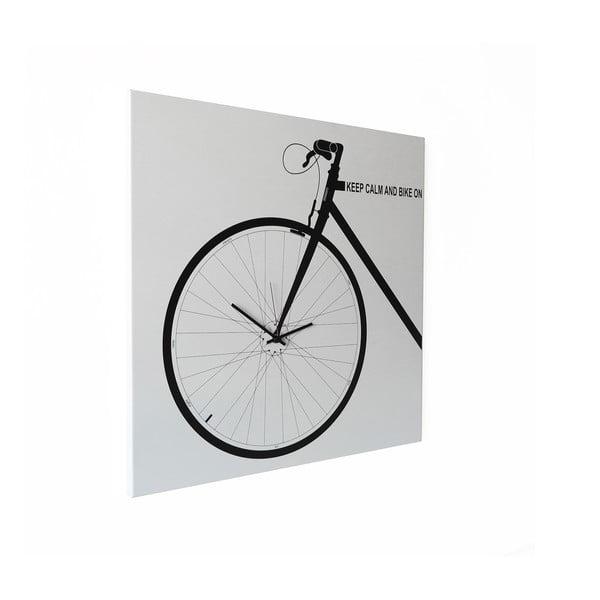 Zegar ścienny dESIGNoBJECT.it Bike White,50x50cm