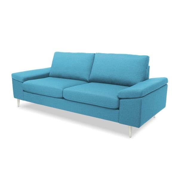 Turkusowa sofa 3-osobowa Vivonita Nathan