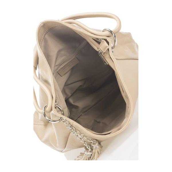 Beżowa torebka skórzana Lisa Minardi Shaan