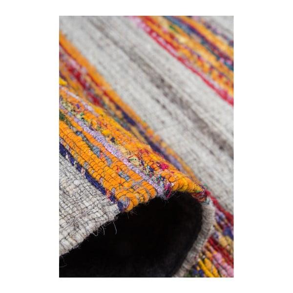 Czerwono-pomarańczowy dywan Evita, 80x150cm