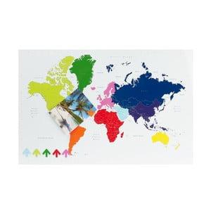 Tablica Mapa Świata Worl Map z 6 magnesami