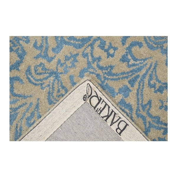 Niebieski dywan tuftowany ręcznie New Jersey, 122x183cm