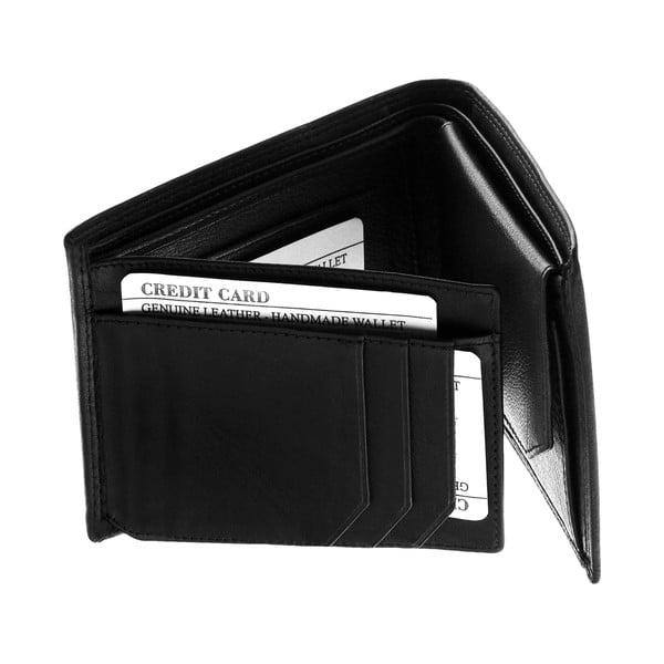 Skórzany portfel Continuum 1516, podwójne szycie
