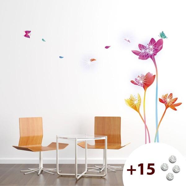 Naklejka z 15 kryształkami Swarovski Ambience Rainbow Flowers