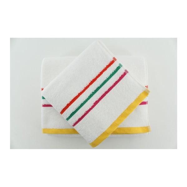 Zestaw 2 ręczników Boreas Snow White, 50x90 + 70x140 cm