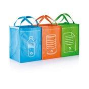 Zestaw 3   toreb do segregacji śmieci XD Design