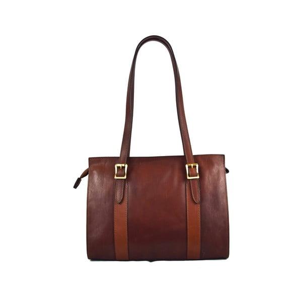 Skórzana torebka Santo Croce 132093 Brown