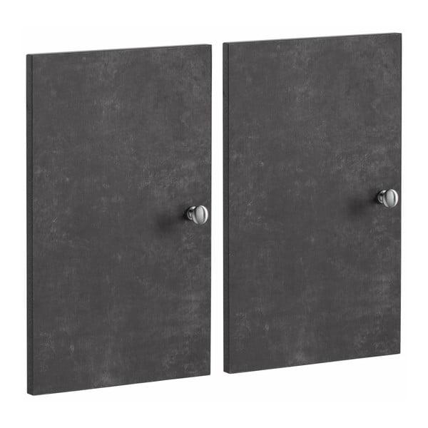 Zestaw 2 ciemnoszarych dodatkowych drzwi do regału Støraa Versaille