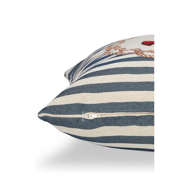 Poszewka na poduszkę Maritim Anchor Blue, 45x45 cm