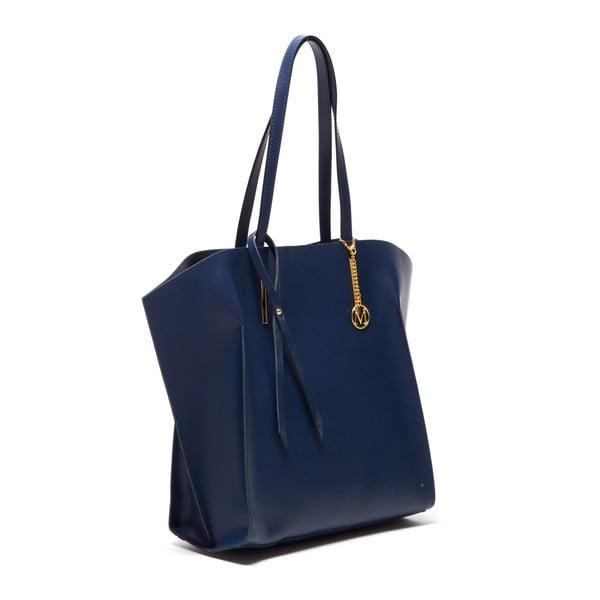 Skórzana torebka Tote 388 Blu