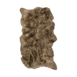 Brązowy dywan skórzany z długim włosiem Janna, 180x120cm