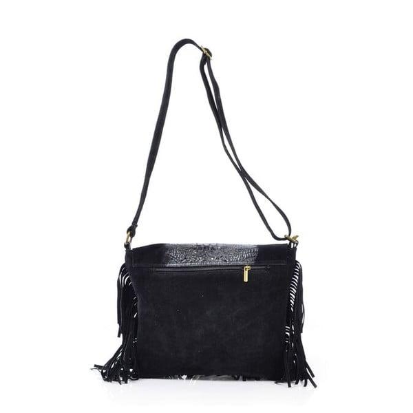 Skórzana torebka Madhia, czarna