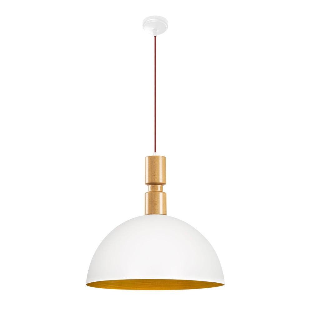 Biała metalowa lampa wisząca Opviq lights Andrea