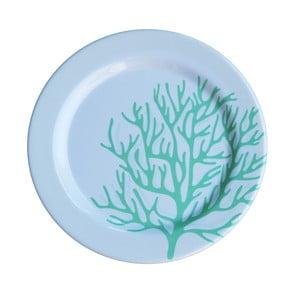 Zestaw 6 talerzy melaminowych Sunvibes Corail Bleu, ⌀ 25 cm