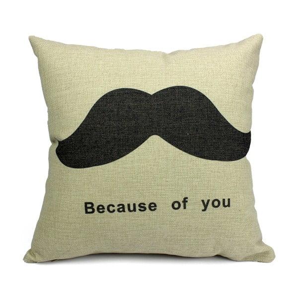 Poszewka na poduszkę Mustache, 45x45 cm