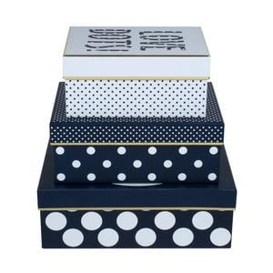 Zestaw 3 pudełek Tri-Coastal Love Dots
