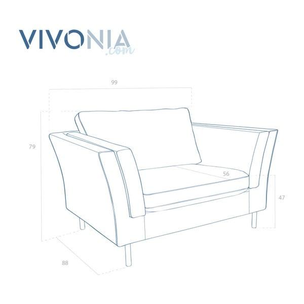 Turkusowy fotel Vivonita Connor