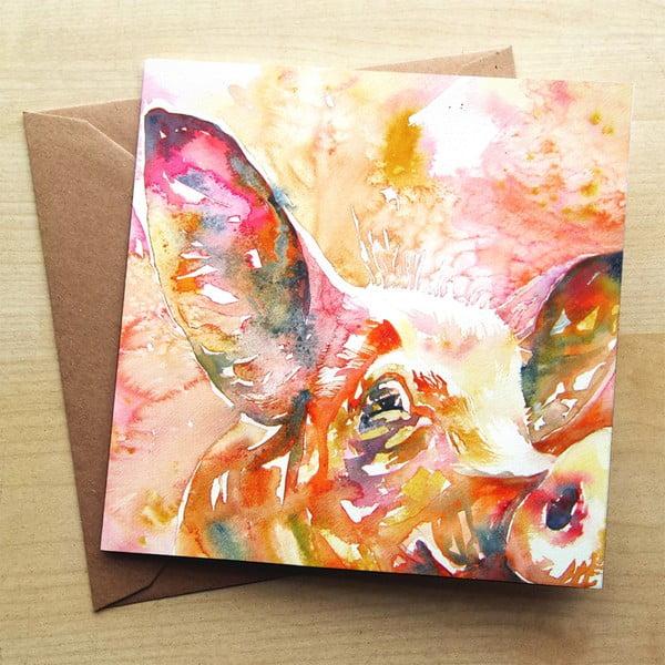 Kartka okolicznościowa Wraptious Curious Pig