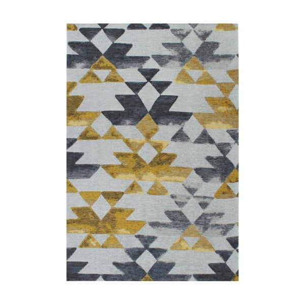 Dywan Tria Grey/Yellow, 160x230 cm