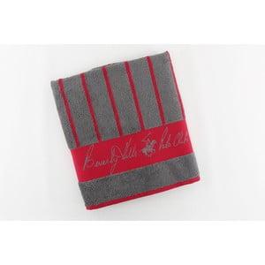 Ręcznik bawełniany BHPC 50x100 cm, czerwony w paski