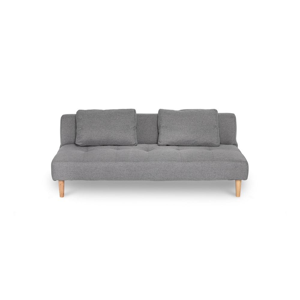 Jasnoszara sofa rozkładana loomi.design Matylda