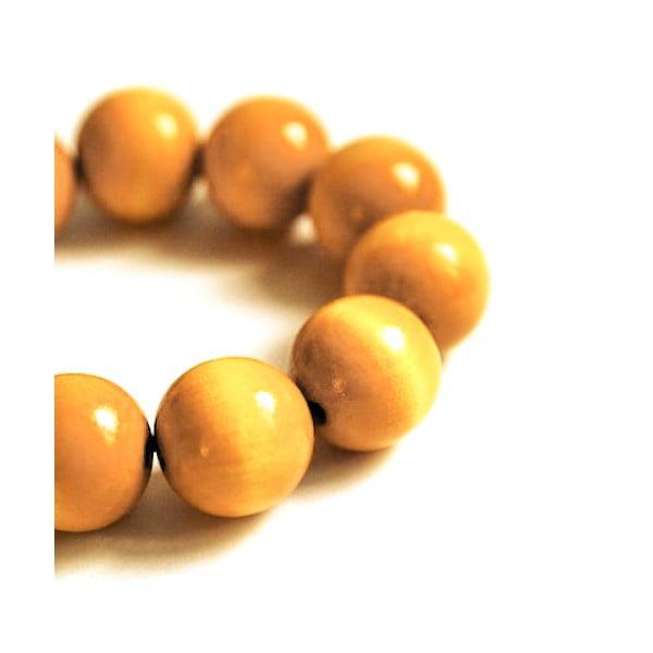Żółta bransoletka drewniana Ko–ra–le Bubbles