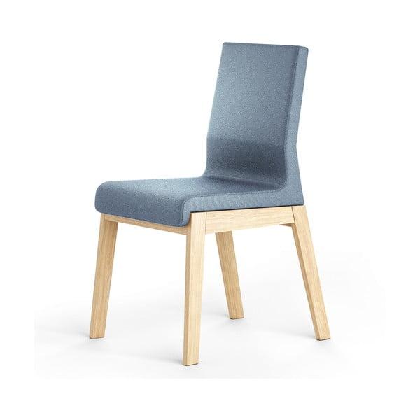 Niebieskie krzesło dębowe Absynth Kyla