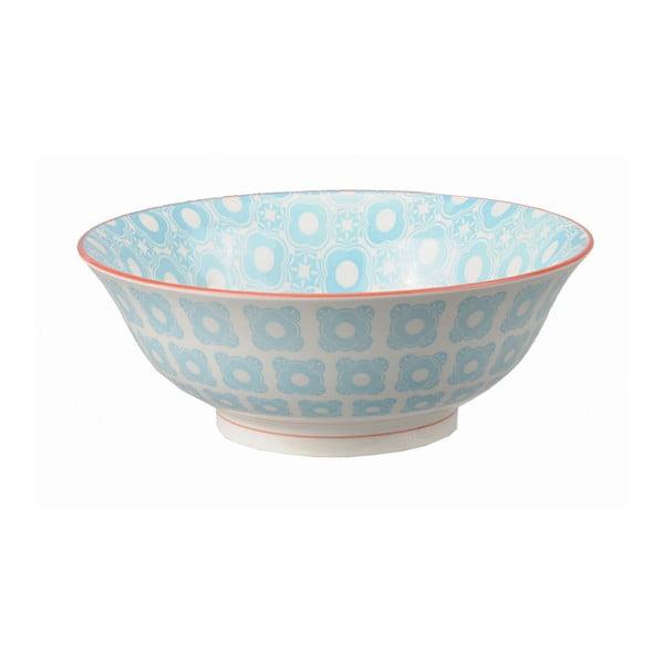 Porcelanowa miska Soba Orient Blue, 21x7,8 cm
