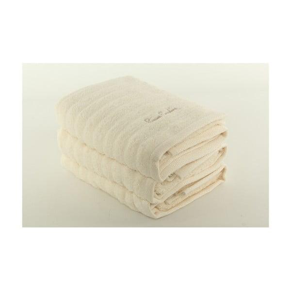 Komplet 3 ręczników Pierre Cardin Cream, 50x90 cm