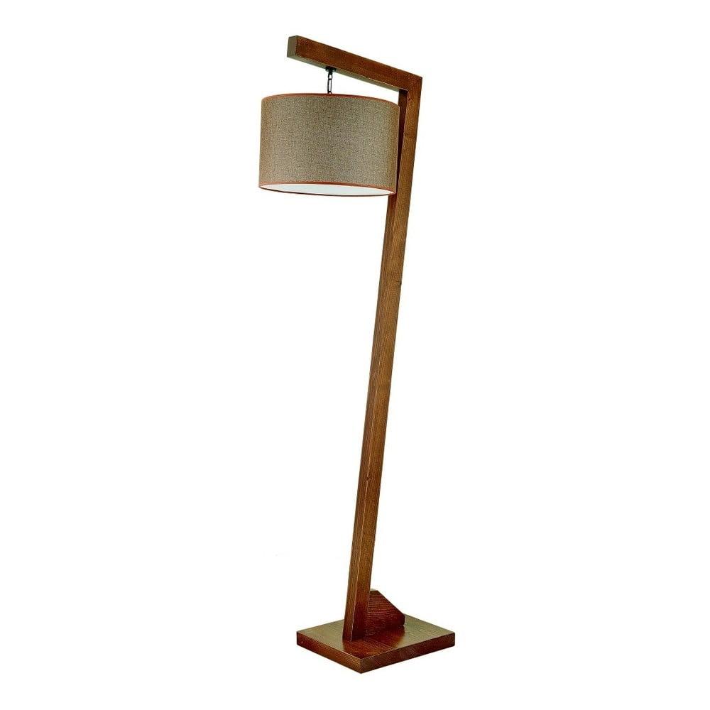 Lampa stojąca z drewna grabu Rüya