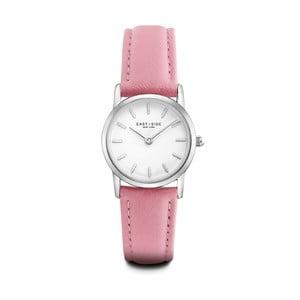 Zegarek damski z różowym skórzanym paskiem i cyferblatem w kolorze srebra Eastside Elridge