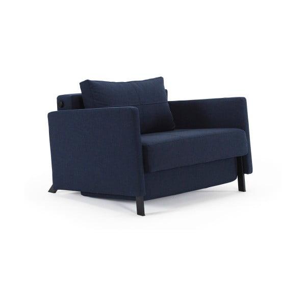 Ciemnoniebieski rozkładany fotel Innovation Cubed With Arms Mixed Dance Blue