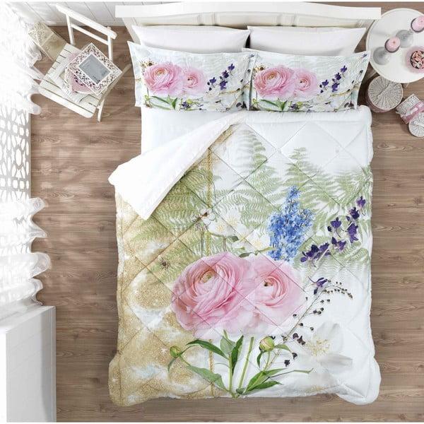 Ozdobny komplet pościeli do sypialni  Pink Rose, 200x265 cm