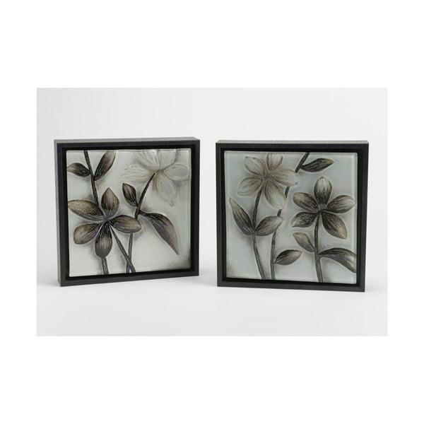 Zestaw 2 obrazów Black&White