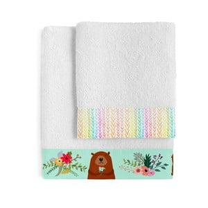 Komplet 2 ręczników Little W Daisy Flower